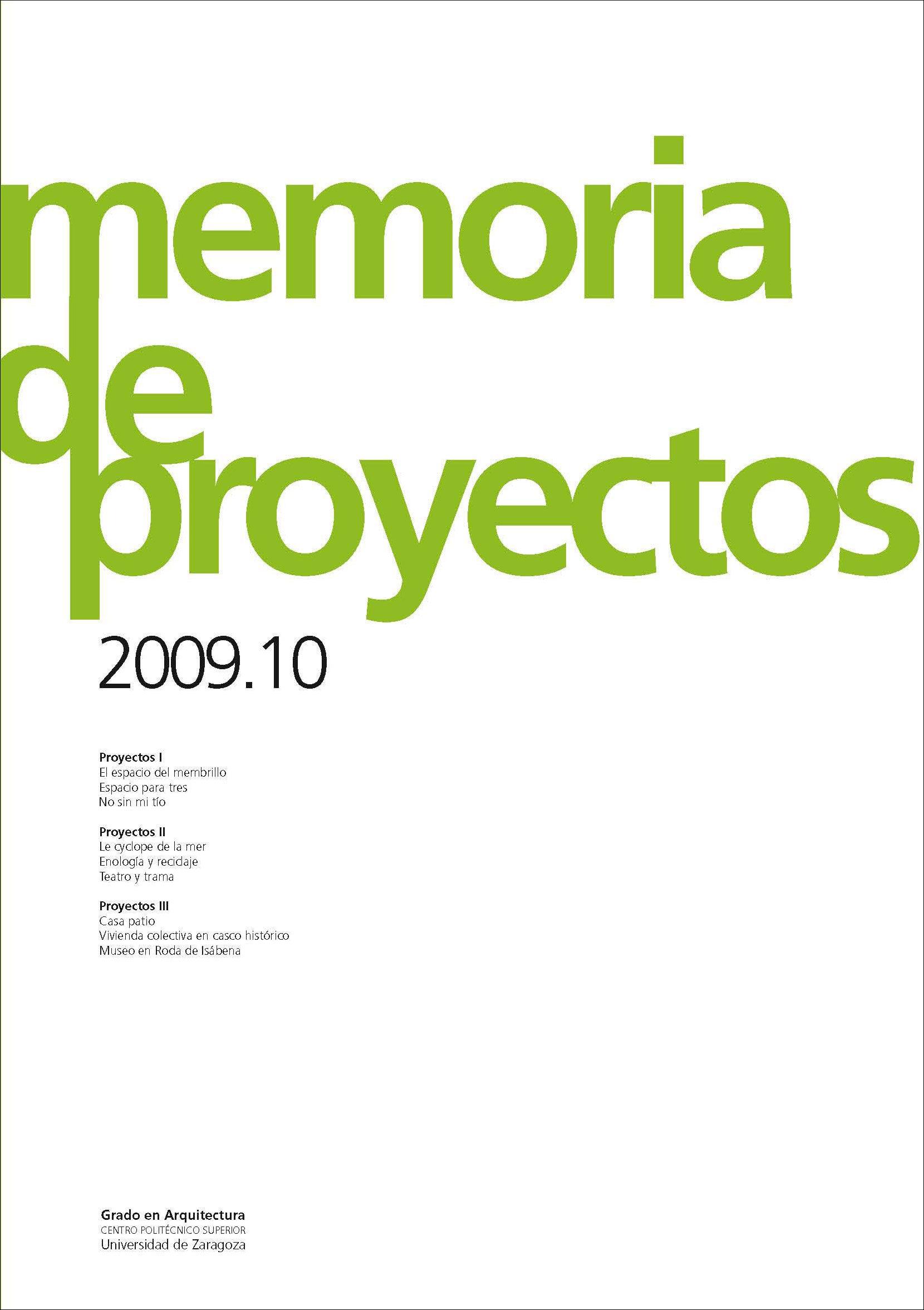 Memoria De Proyectos 2009.10 por Vv.aa. epub