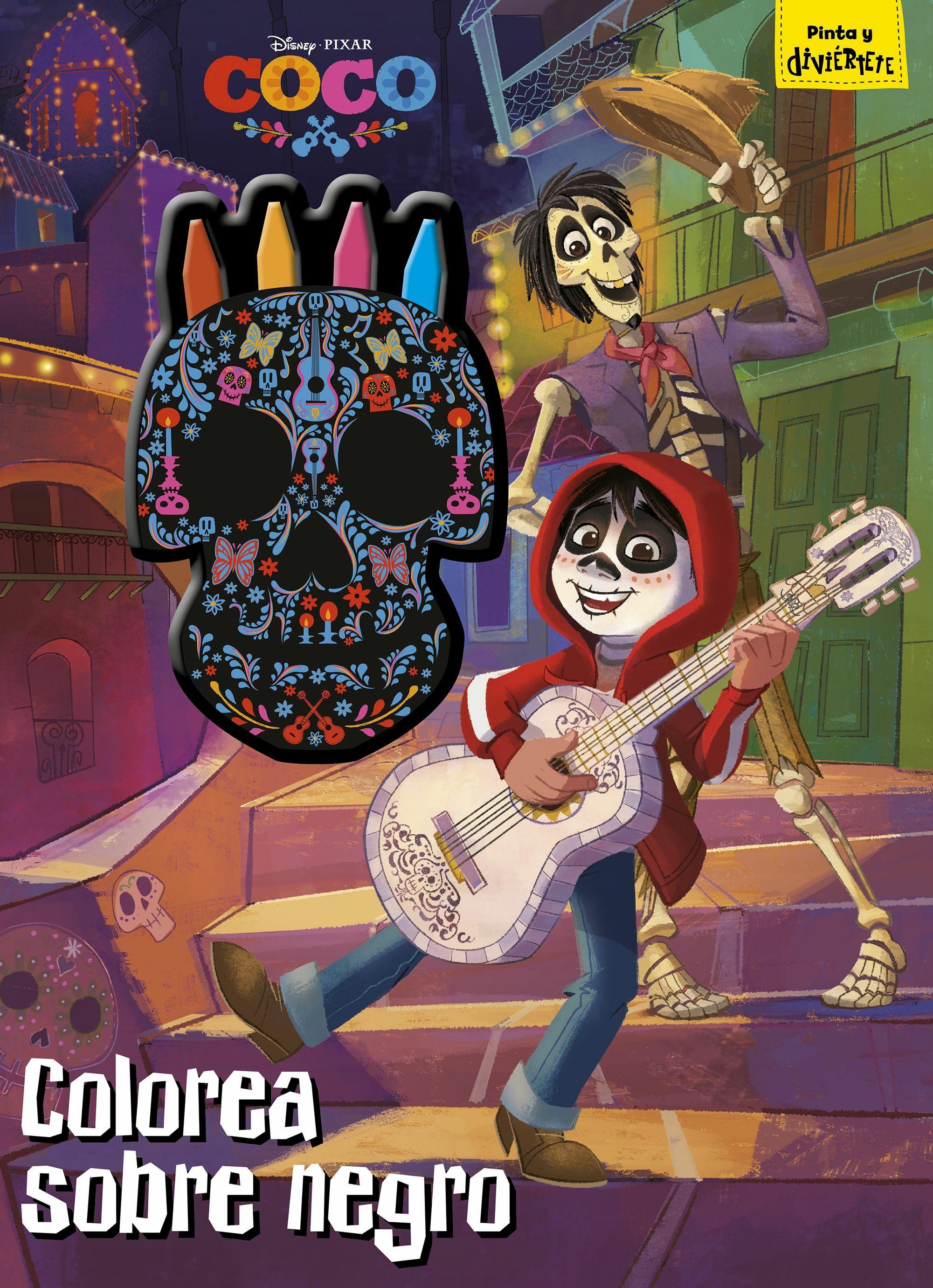 COCO: COLOREA SOBRE NEGRO: LIBRO PARA COLOREAR CON CERAS | VV.AA ...