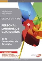 Personal Laboral De Guarderias De La Generalitat De Cataluña. Gru Pos D1 Y  D2. Temario Y Test Parte General por Vv.aa. epub