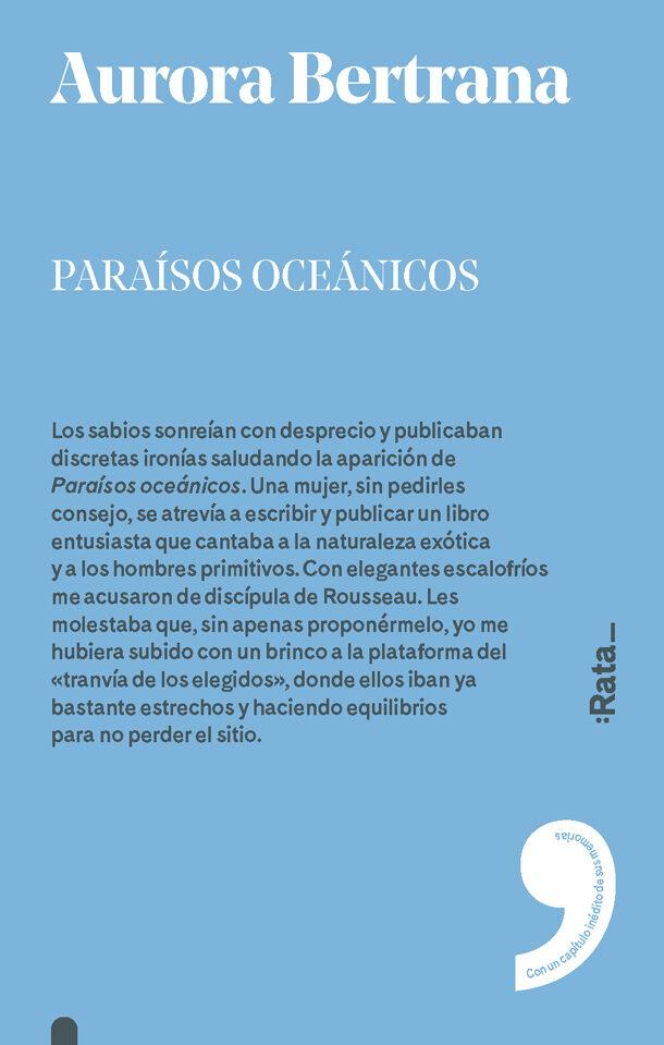 Paraísos oceánicos de Aurora Bertrana. Literatura de viajes
