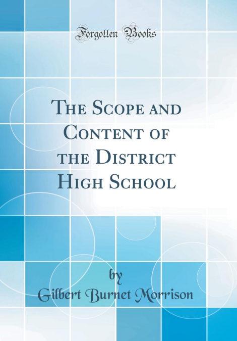 «The Scope And Content Of The District High School (classic Reprint)»: MOBI EPUB 978-0483246348 por Gilbert Burnet Morrison-