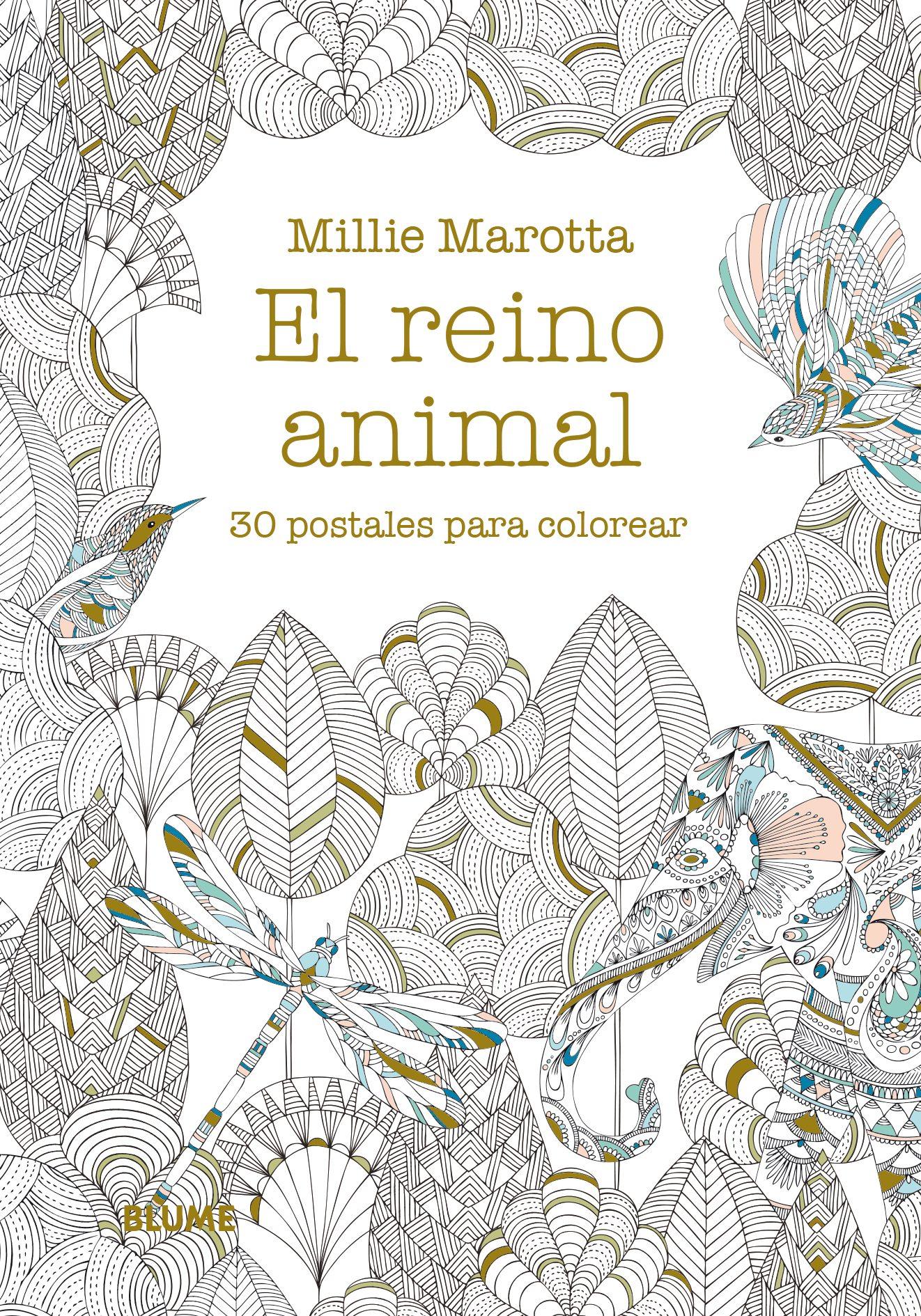 EL REINO ANIMAL: 30 POSTALES PARA COLOREAR | MILLIE MAROTTA ...