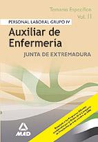 Auxiliares De Enfermeria De La Comunidad De Extremadura. Temario Especifico, Volumen Ii por Vv.aa. Gratis