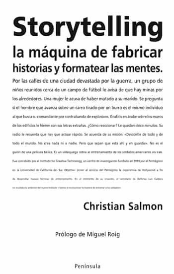 storytelling, la maquina de fabricar historias y formatear las me ntes-christian salmon-9788483078358