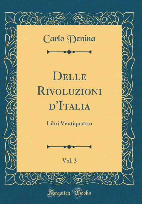 Epub Gratis Delle Rivoluzioni Ditalia, Vol. 3