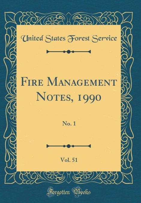 PDF Descargar Fire Management Notes, 1990, Vol. 51
