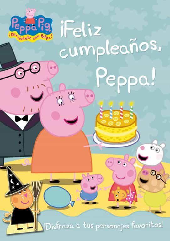 Feliz Cumpleanos Peppa Peppa Pig Incluye Personajes Troquela Dos