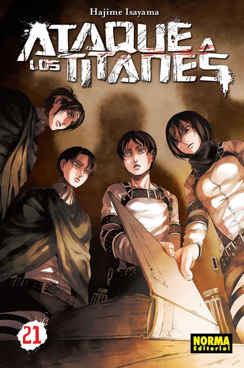 Ataque A Los Titanes 21 por Hajime Isayama