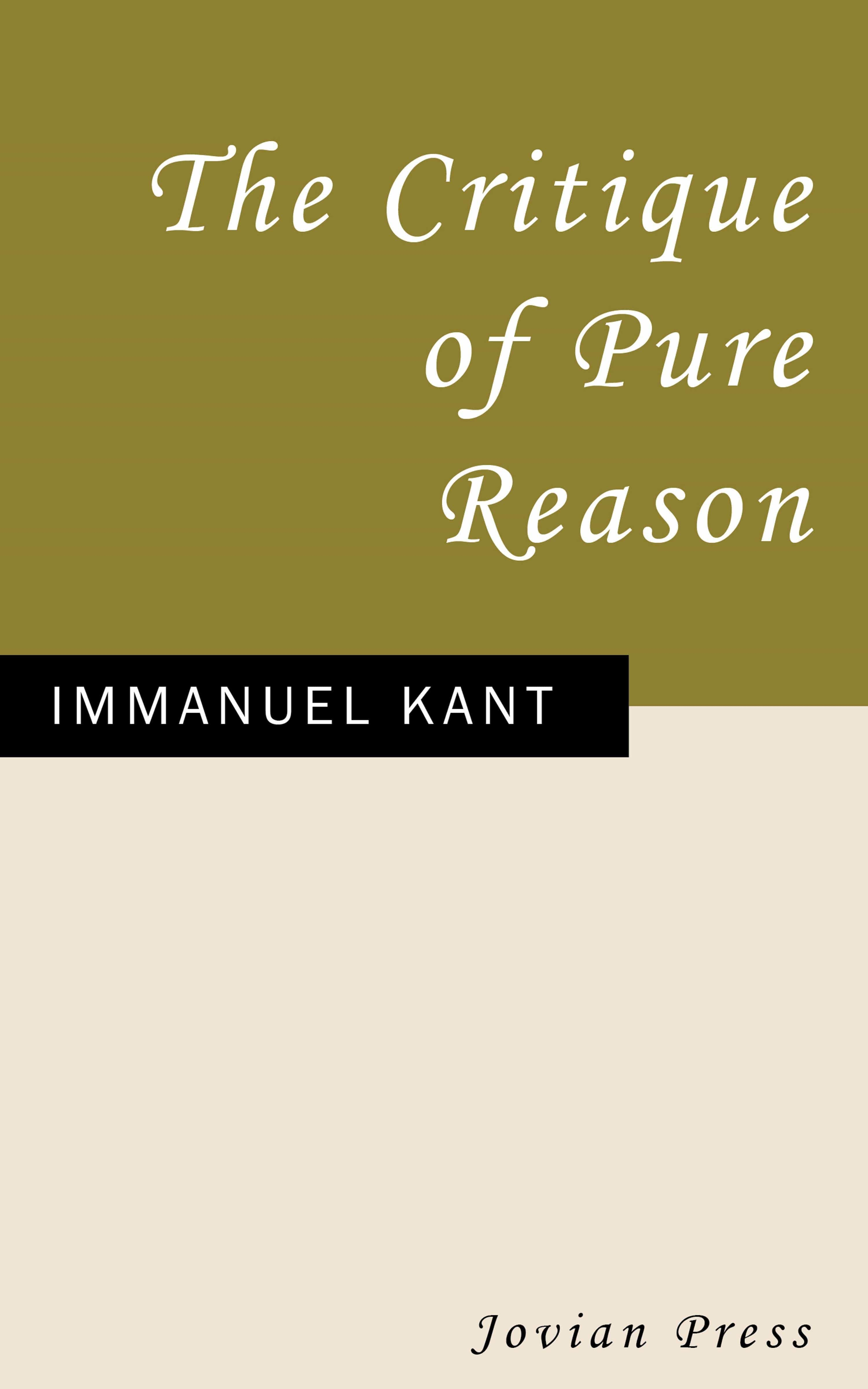 the critique of pure reason (ebook)-immanuel kant-9781537807898