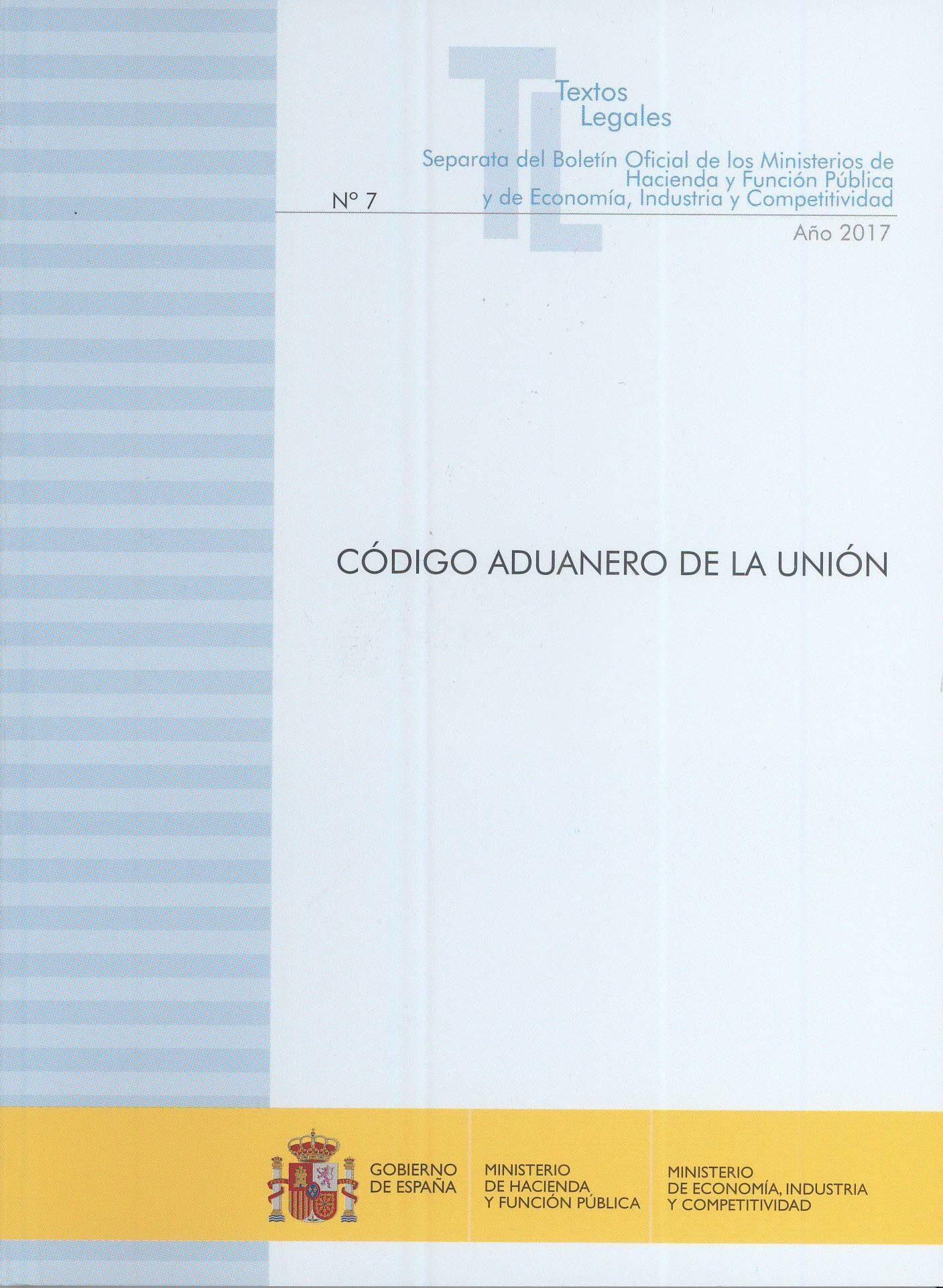código aduanero de la unión-ministerio de hacienda-9788447608898