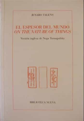 descargar EL ESPESOR DEL MUNDO= ON THE NATURE OF THINGS pdf, ebook