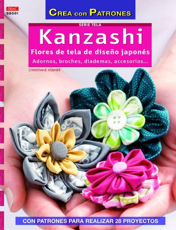 kanzashi: flores de tela de diseño japones-christiane hubner-9788498743098