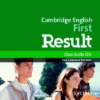 cambridge english: first result: fce result cl audio cd ed 2015 (first certificate) 9780194512008