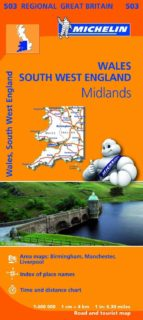 mapa regional wales, the midlands, south west england (2013) 9782067183308