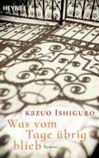 was vom tage übrig blieb kazuo ishiguro 9783453421608
