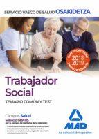 trabajador social de osakidetza servicio vasco de salud. temario común y test 9788414216408
