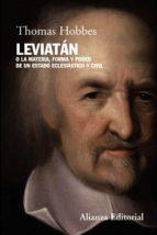 leviatan o la materia, forma y poder de unn estado eclesiastico y civil thomas hobbes 9788420682808