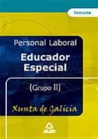 educador especial de la xunta de galicia: temario 9788466557108