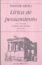 lirica del pensamiento: una antologia-friedrich von schiller-9788475179308