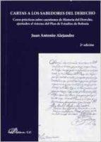 cartas a los sabedores del derecho-juan antonio alejandre-9788490316108
