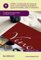 (i.b.d.) confección de cartas de vinos, otras bebidas alcohólicas, aguas envasadas, cafés e infusiones. hotr0209   sumilleria enrique malagón terrón 9788416629718