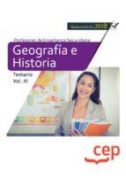 cuerpo de profesores de enseñanza secundaria geografía e historia temario volumen iii 9788417625818