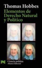 elementos de derecho natural y politico thomas hobbes 9788420659718