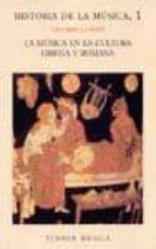 la musica en la cultura griega y romana (historia de la musica; 1 )-giovanni comotti-9788475061818