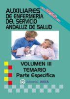 AUXILIAR ENFERMERÍA SAS TEMARIO PARTE ESPECÍFICA VOLUMEN III
