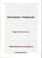 diccionarios y fraseologia-margarita alonso ramos-9788497492218