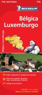 mapa belgica, luxemburgo 2012 (ref. 716) 9782067170728