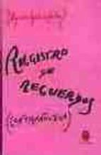 registro de recuerdos: contranovela-agustin garcia calvo-9788485708628
