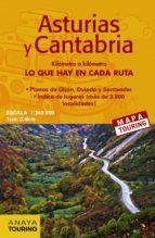 mapa de carreteras asturias y cantabria (desplegable), escala 1:3 40.000 (2ª ed.) 2018 mapa touring 9788491580928