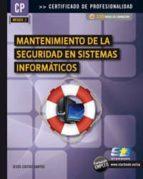 mantenimiento de la seguridad en sistemas informaticos-jesus costas santos-9788492650828