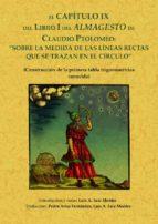 almagesto sobre las medidas de las lineas rectas (ed. facsimil) claudio ptolomeo 9788497610728