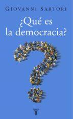 ¿que es la democracia? (2ª edicion) giovanni sartori 9788430606238