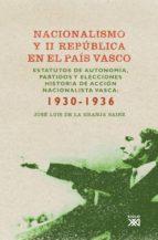 nacionalismo y ii república en el país vasco (ebook)-9788432315138