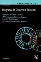 programa pdp (programa de desarrollo personal) (incluye cd rom) francisco herrera clavero 9788436820638