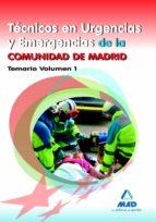 tecnicos en urgencias y emergencias de la comunidad de madrid. te mario volumen i 9788467679038