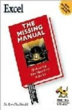 excel: the missing manual matthew macdonald 9780596006648