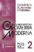 geometria moderna: metodos y aplicaciones (t. 2): geometria y top ologia de las variedades-b.a. dubrovin-a.t. fomenko-s.p. novikov-9785836000448