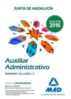auxiliar administrativo de la junta de andalucía. temario volumen 2 9788414216248