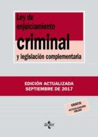 ley de enjuiciamiento criminal y legislacion complementaria (34ª ed.) victor moreno catena 9788430971848