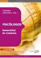 psicologos de la generalitat de cataluña. temario especifico  vol . i. donato vargas fernandez 9788468118048