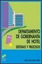 departamento de gobernanta de hotel, sistemas y procesos maria jose olmo 9788477388548