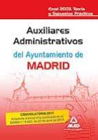 AUXILIARES ADMINISTRATIVOS DEL AYUNTAMIENTO DE MADRID. EXCEL 2003 . TEORIA Y SUPUESTOS PRACTICOS