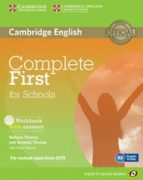 complete first for schools for spanish speakers workbook with ans wers with audio cd-9788483239858