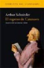 el regreso de casanova-arthur schnitzler-9788496136458