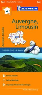 mapa regional auvergne limousin 9782067209268