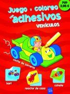 juego y coloreo con adhesivos: vehiculos 9788408111368